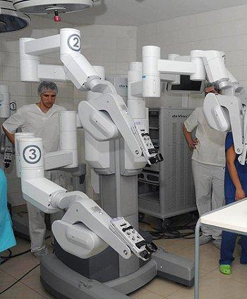 Cirugia con robot DaVinci