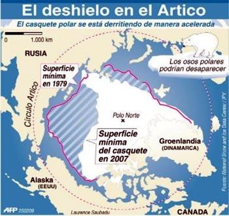 deshielo artico, problema del calentamiento global