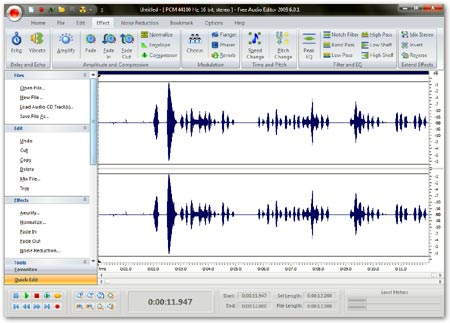 Free Audio Editor, completo programa de grabacion y edicion de audio