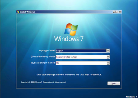 Instalación de Windows 7