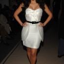 Luciendo linda Kim en el show de Tracy Reese en la semana de la moda en Nueva York