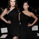 Kim y Cloe en la semana de la moda en Nueva York