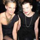 Las super modelos de los 90's Molly Sims y Milla Jovovish en la semana de la moda en Nuva York