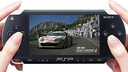 playstation portable, mostrando gran turismo 4