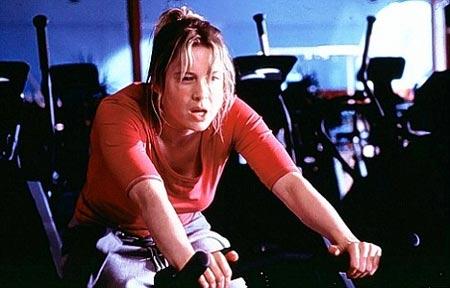 Rene Zellweger haciendo ejercicio