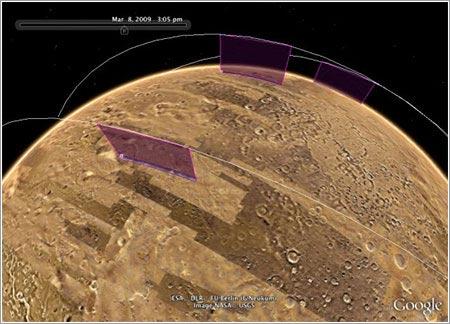 Nuevas actualizaciones en Google Earth para ver Marte