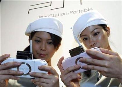 chicas japonesas usando psp
