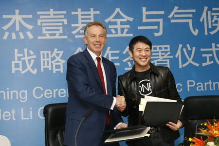 Tony Blair y Jet Li