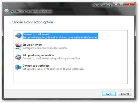 Conectarse a Internet en Windows 7