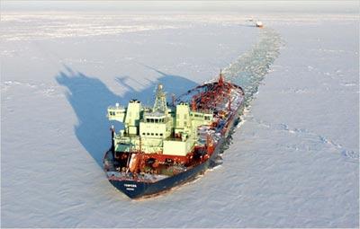 Barco en el Artico