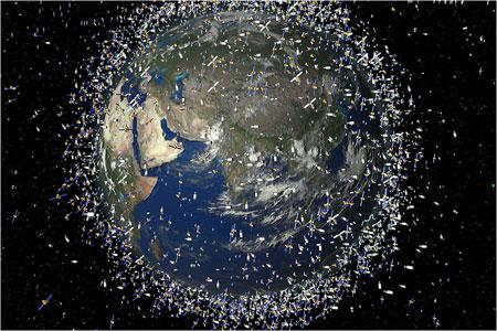 Basura Espacial en la Tierra