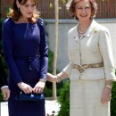Carla Bruni y la Reina Sofía