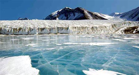 hielo de antartica se rompe