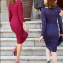 Letizia y Carla Bruni subiendo escalones