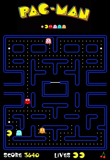 video juego pac-man