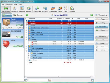Descargar gratis personal finances 3.3