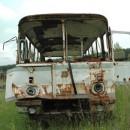 Camion oxidado utilizado en el accidente nuclear de chernobyl