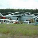 Helicoptero destrozado en chernobyl