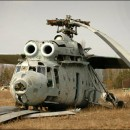 Helicoptero derrumbado por el accidente de chernobyl