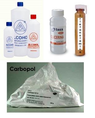 Ingredientes para crear gel antibacterial casero