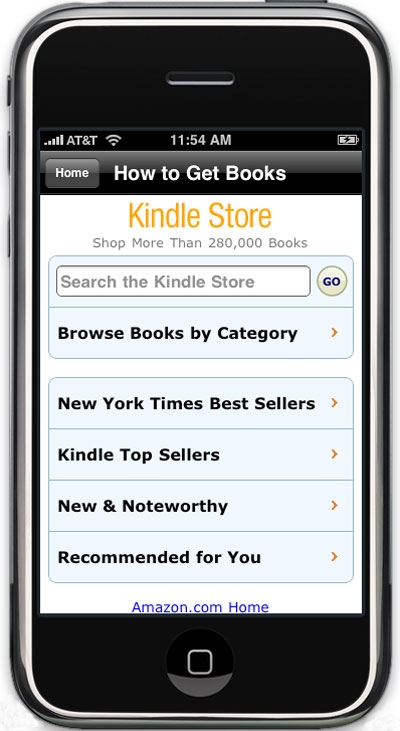 e-books de Amazon a través del iPhone
