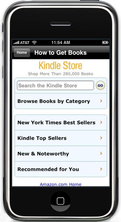 e-books de Amazon a través del iPhone