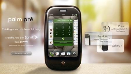 Nuevo Palm Pre con sistema webOS