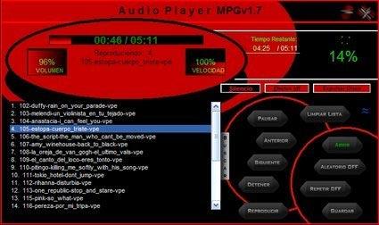 Reproductor de musica AudioPlayerMPG
