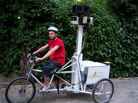 Nueva bicicleta con camara de Google Street View