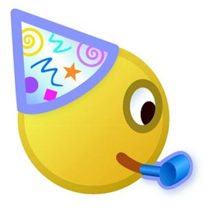 Emoticon de fiesta de msn messenger