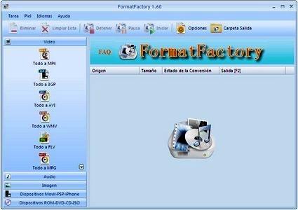 Descargar gratis FormatFactory