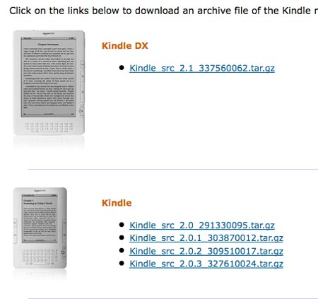 Amazon libera el codigo fuente de Kindle