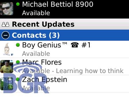 Mensajeria instantanea en los moviles de Blackberry
