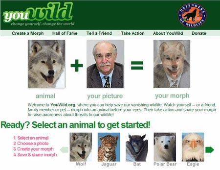 Sitio para cambiar tu cara en la de un animal