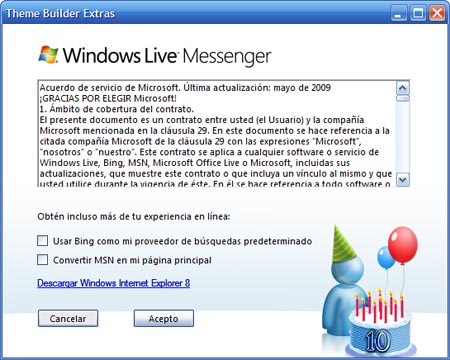 Un nuevo pack por el décimo aniversario de MSN Messenger