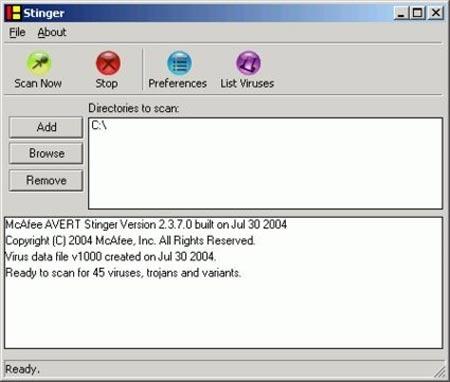 McAfee AVERT Stinger 10.0.1.546