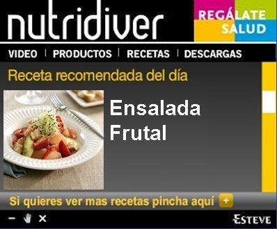 Programa de recetas Nutridiver