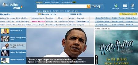 Prodigy Msn, portal de Mexico de la empresa Microsoft
