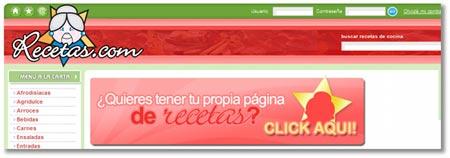 Sitios online de recetas de comida