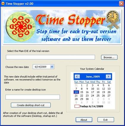 Programa para aumentar el tiempo de las versiones de prueba