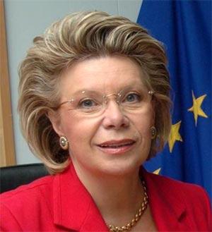 Viviane Reding comisaria europea de telecomunicaciones