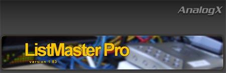 Descarga gratis AnalogX Listmaster Pro