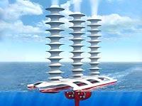 Estos barcos tendran un motor de viento que creará las nubes