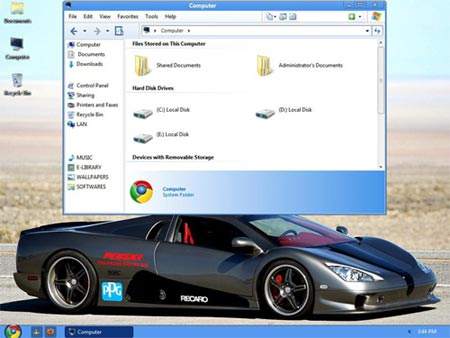 Tema de la apariencia de Chrome OS
