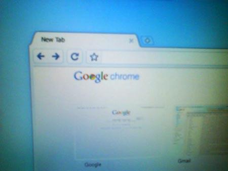 Captura del navegador del nuevo sistema operativo de Google, Chrome OS