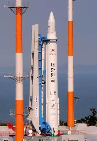 Cohete de Corea del Sur en a punto de despegar