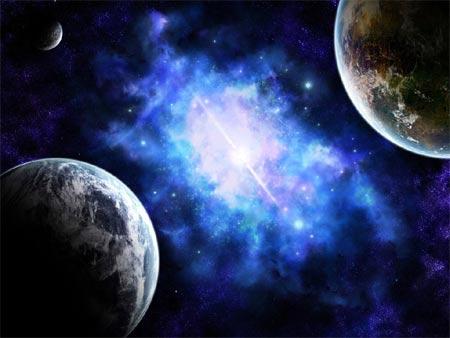 La colisión de dos planetas, del tamaño de La Luna y Mercurio