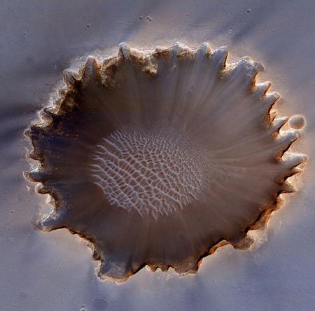 Superficie del crater Victoria en Marte