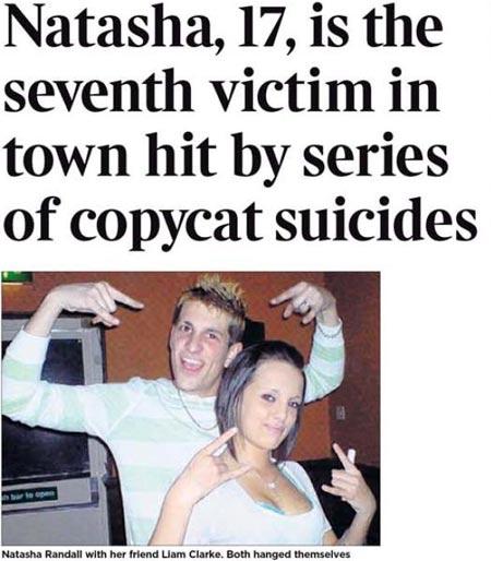 Estos chicos son unos de los 7 que se conocieron y suicidaron en la red social bebo