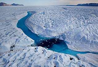 Imagen del glaciar Petermann